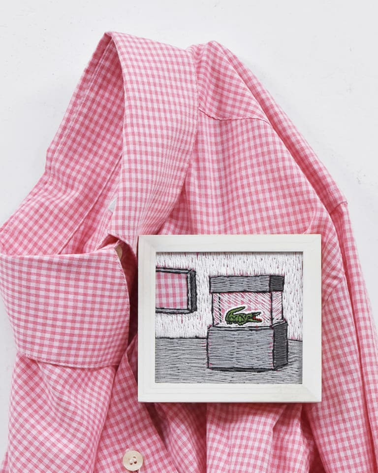 PLUS_LACOSTE_pink gingham check》 2020 年
