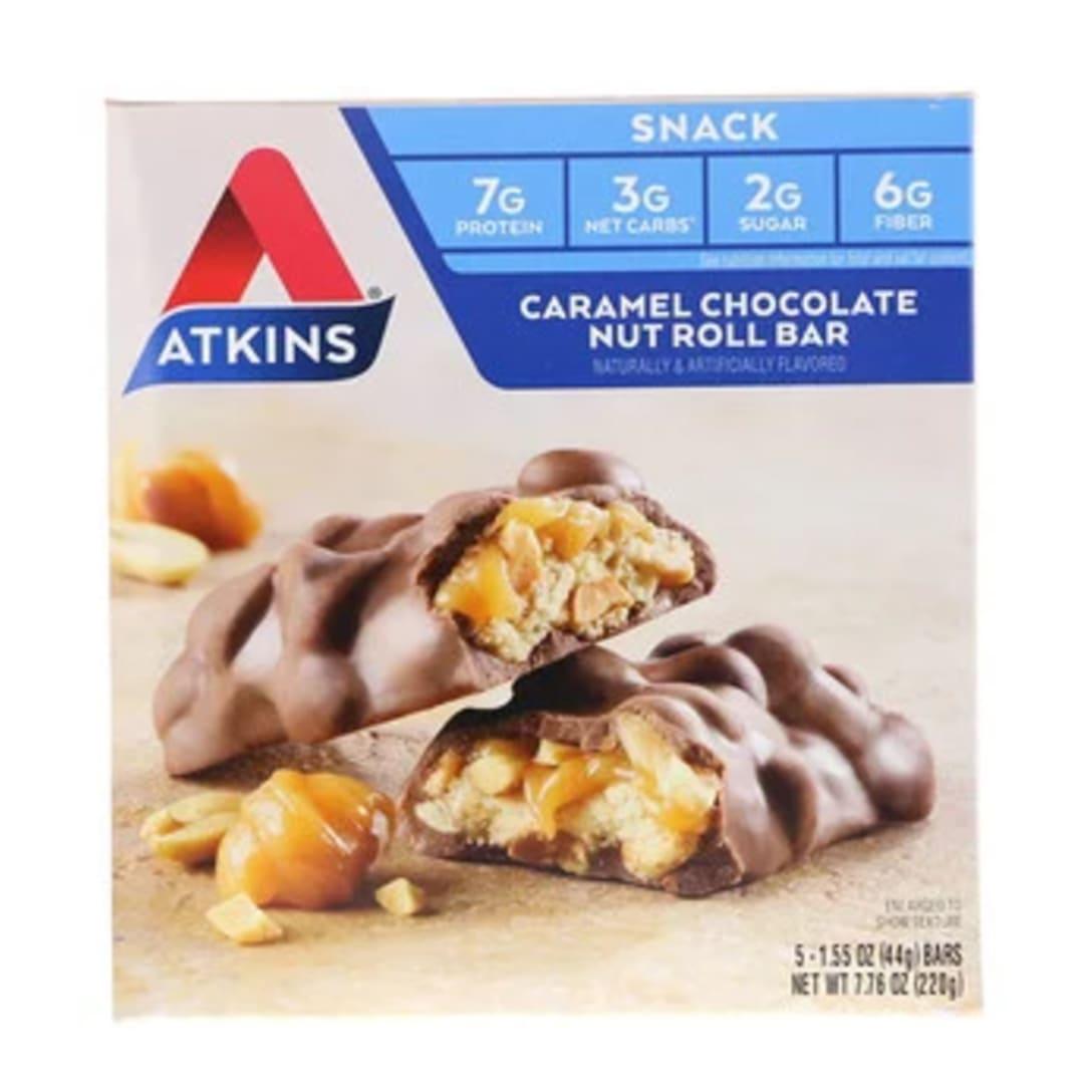 Atkins キャラメルチョコレートナッツロールバー ¥875