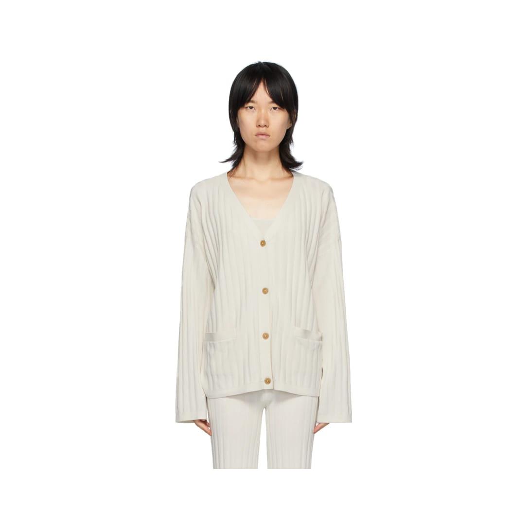 TOTÊME オフホワイト Vinci リブ カーディガン  ¥28,500