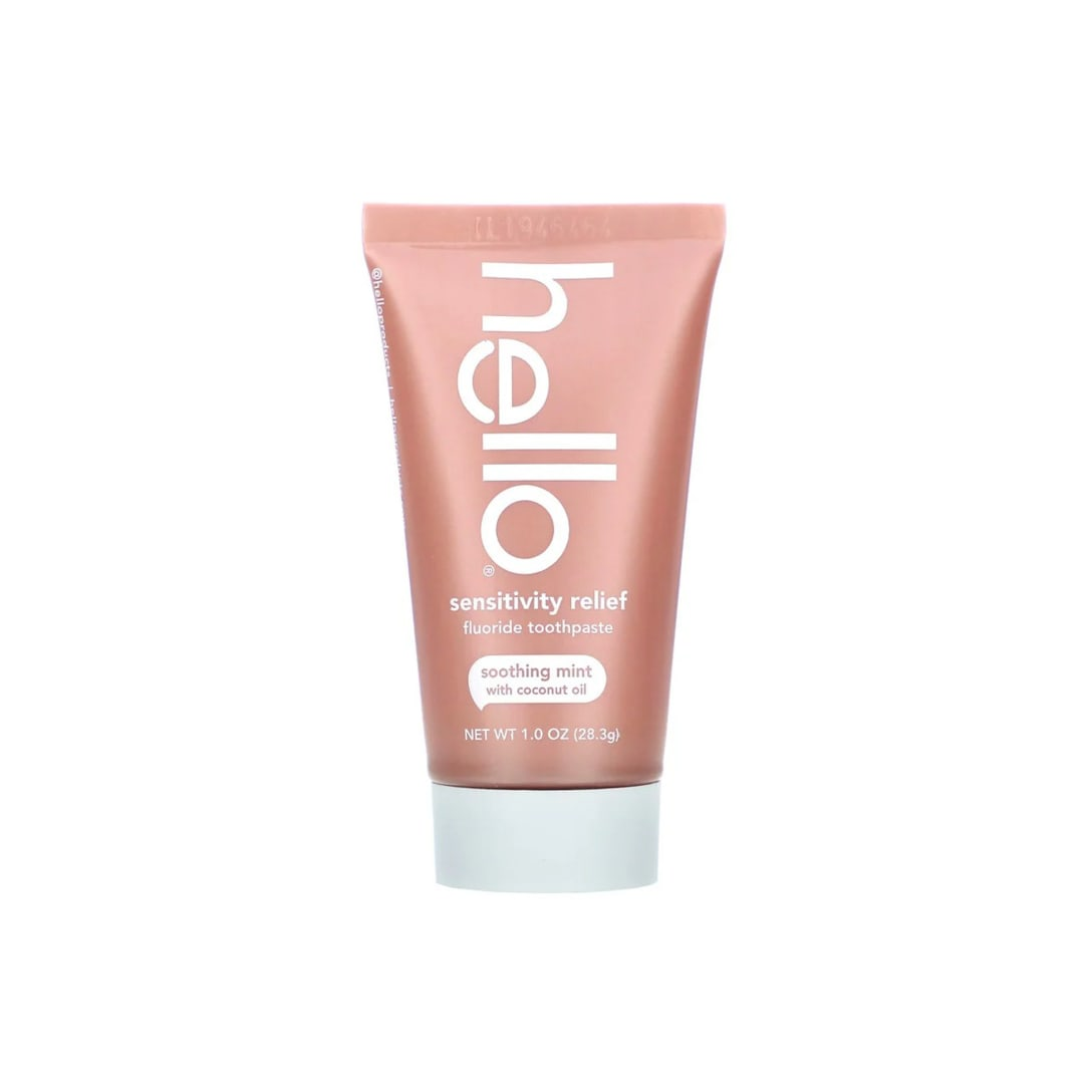 Hello Sensitivity Relief Fluoride Toothpaste Soothing Mint with Coconut Oil(28.3g)¥210