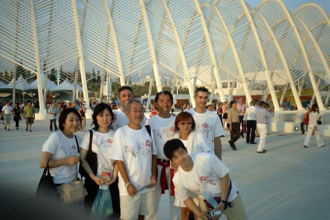 2004年、アテネオリンピック会場へ(筆者提供)