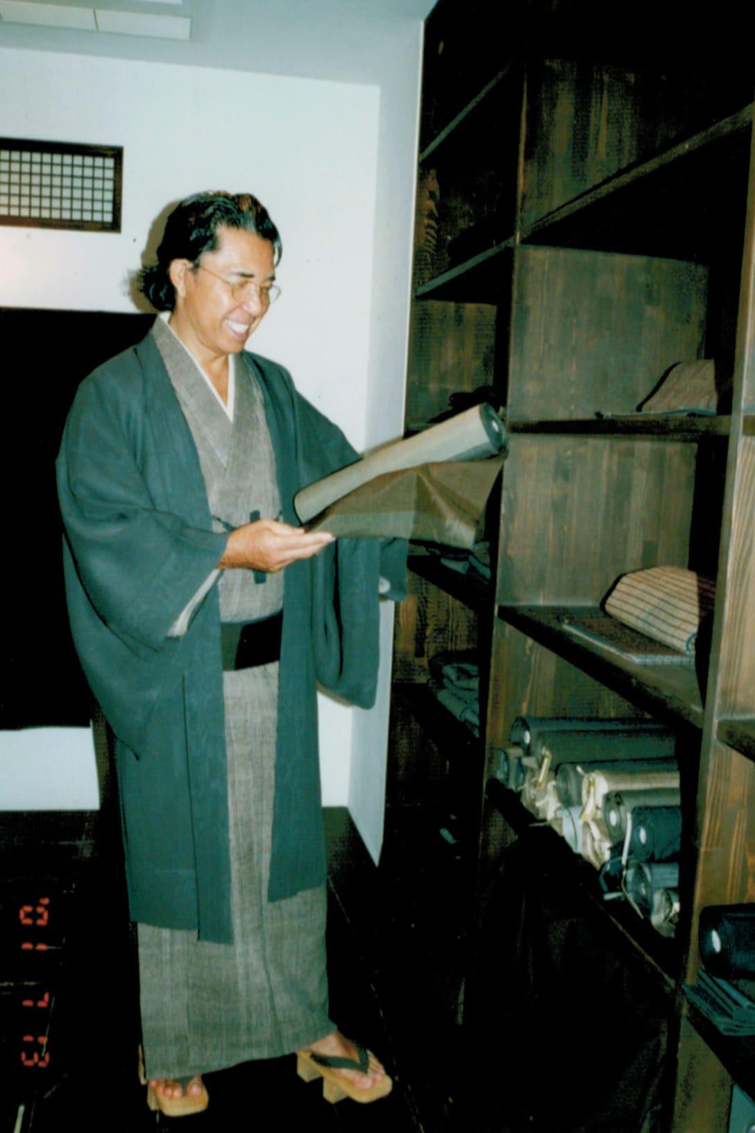 2001年、和装の高田賢三(筆者提供)