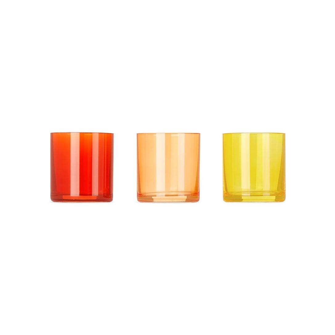 LATERAL OBJECTS マルチカラー Bonfire Glow Votive キャンドル ホルダー(3個セット)¥13,000