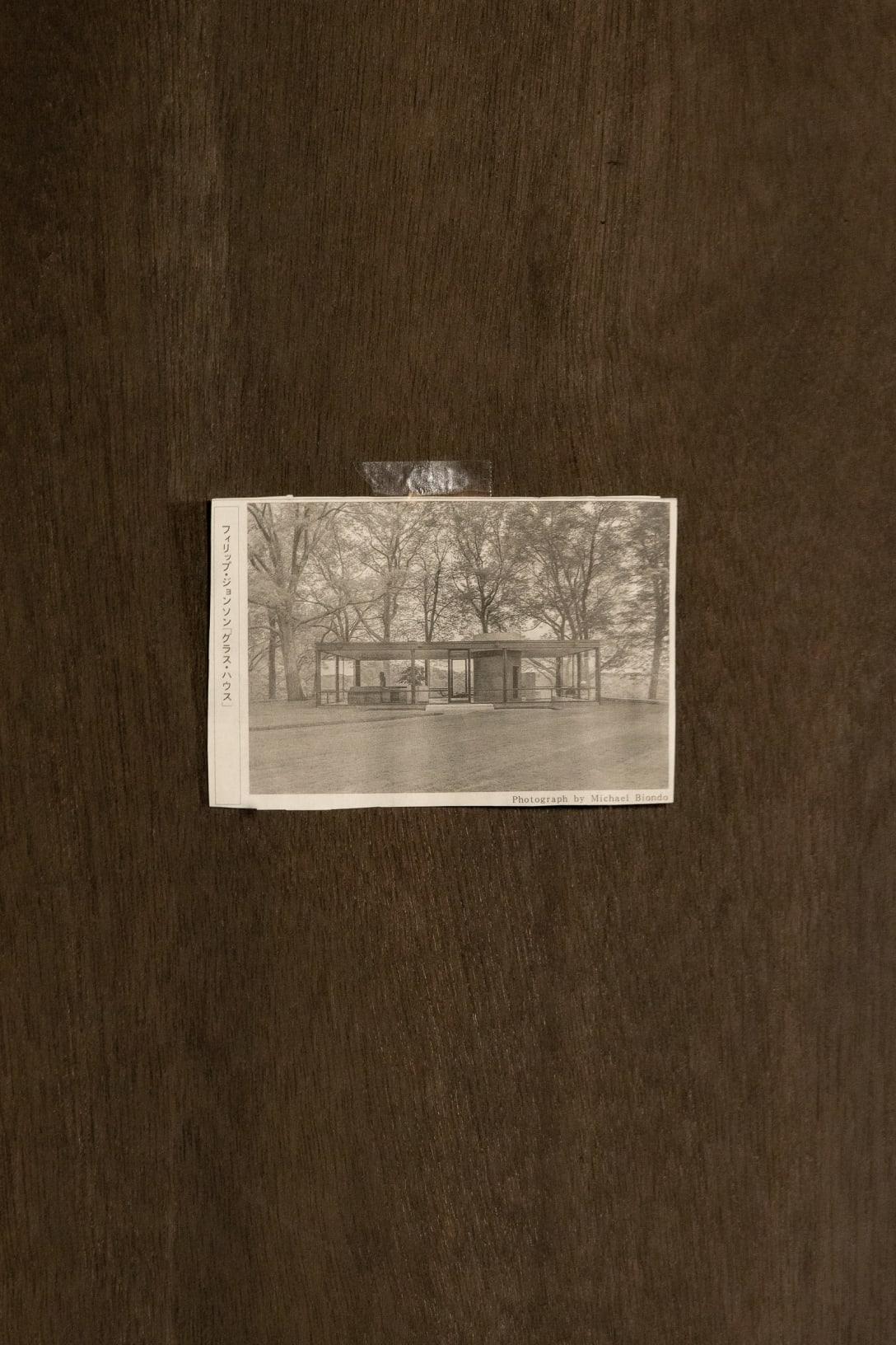 建築家フィリップ・ジョンソン「グラスハウス」の切り抜き
