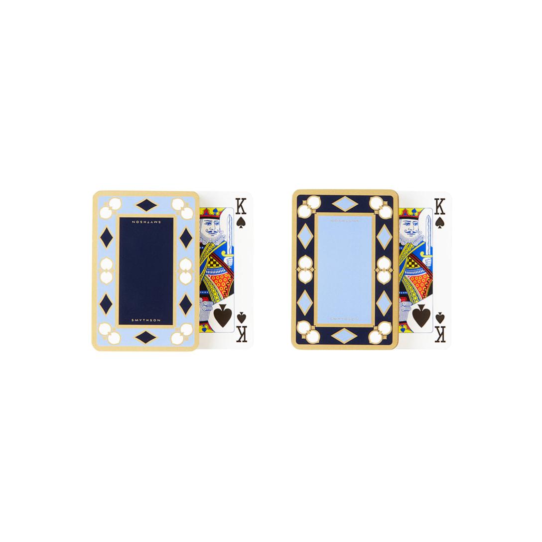 Smythson ブルー & ゴールド プレイング カード(2パックセット)¥14,500