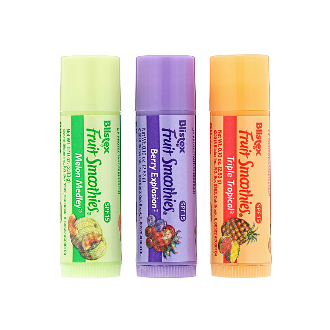Blistex Lip Protectant/Sunscreen Fruit Smoothies(SPF15・3本セット)¥388