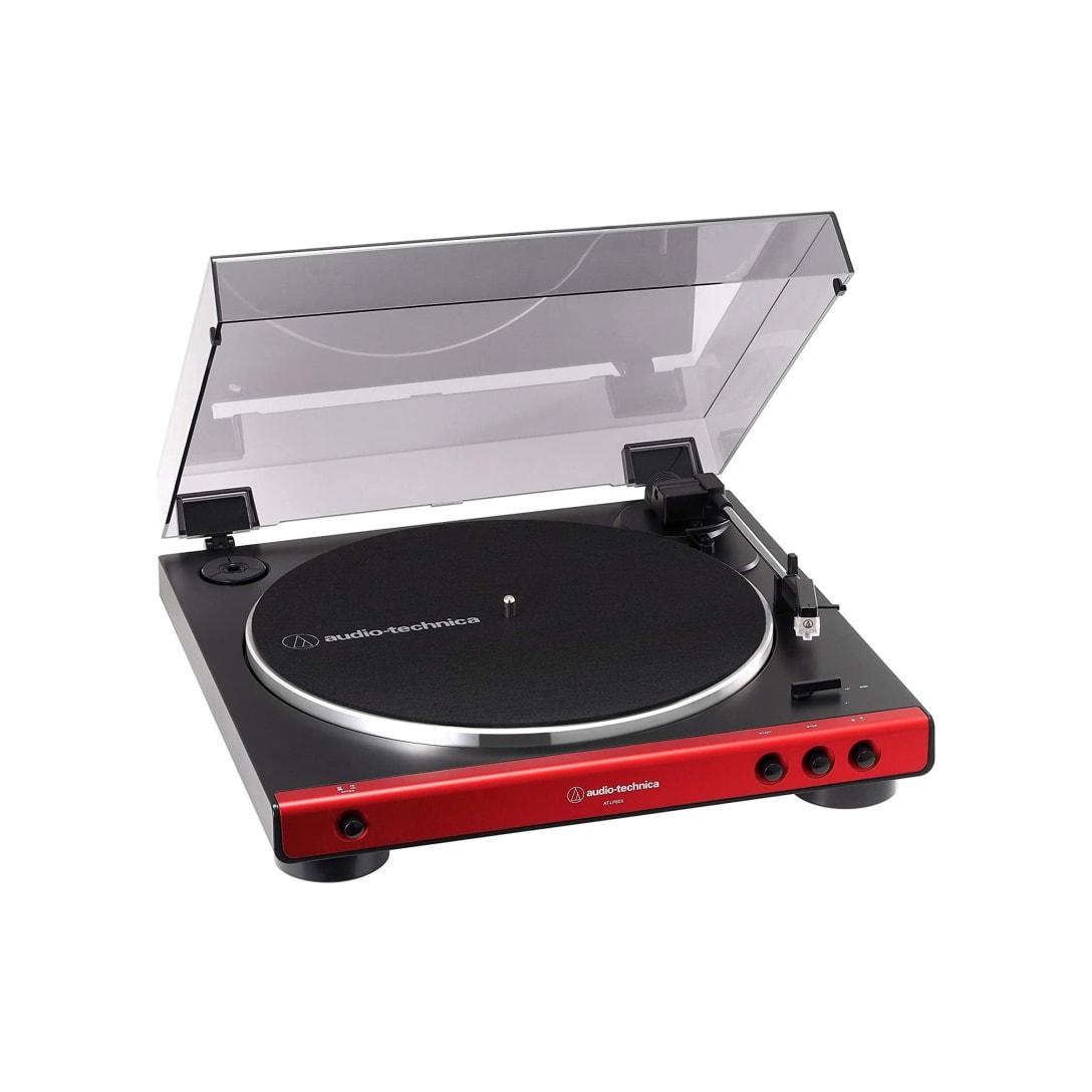 audio-technica フルオートレコードプレーヤー レッド AT-LP60X RD ¥11,220