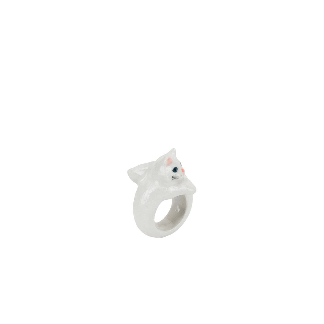 NACH White Persian Cat ring 指輪 ¥12,000