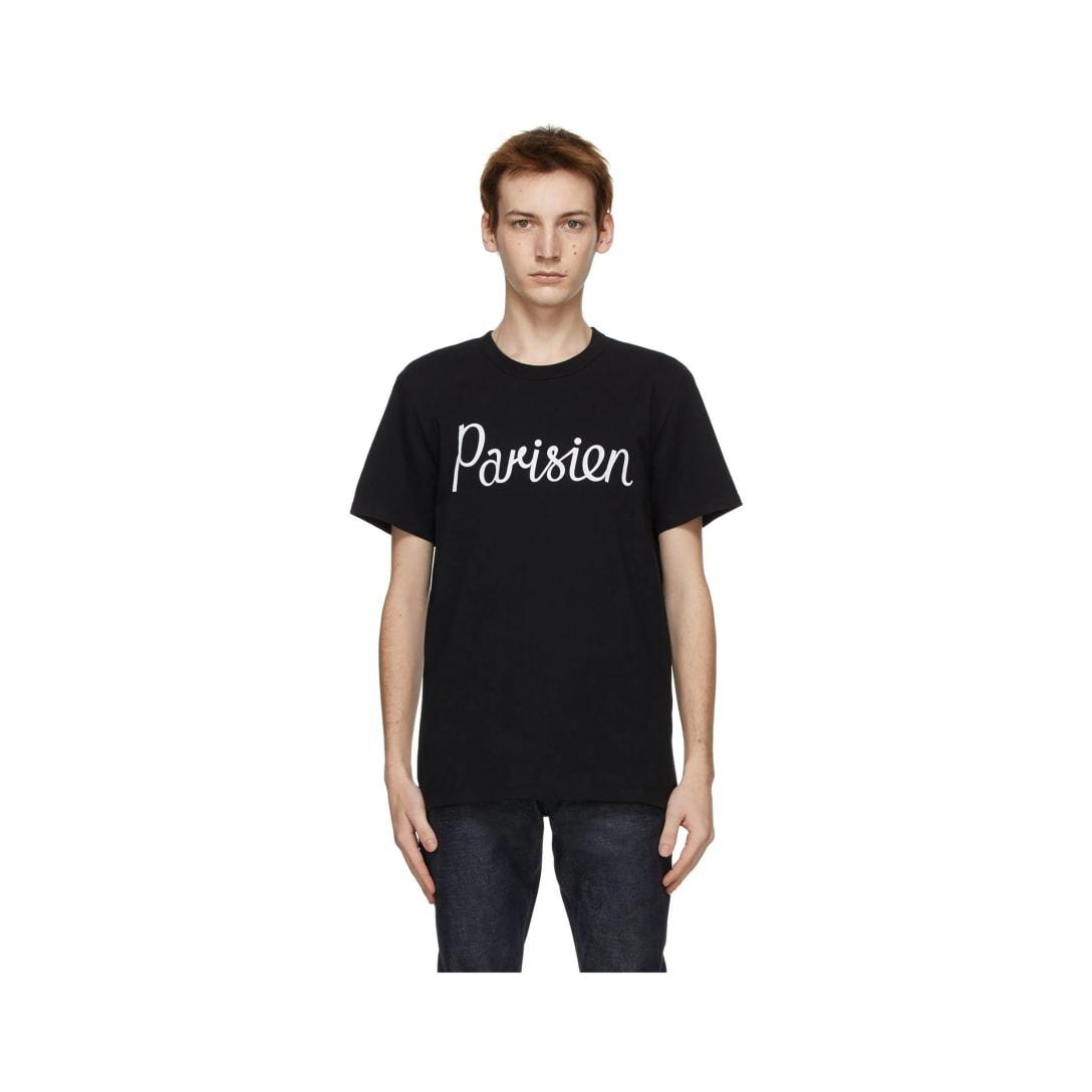 MAISON KITSUNÉ ブラック Parisien Classic T シャツ ¥8,000