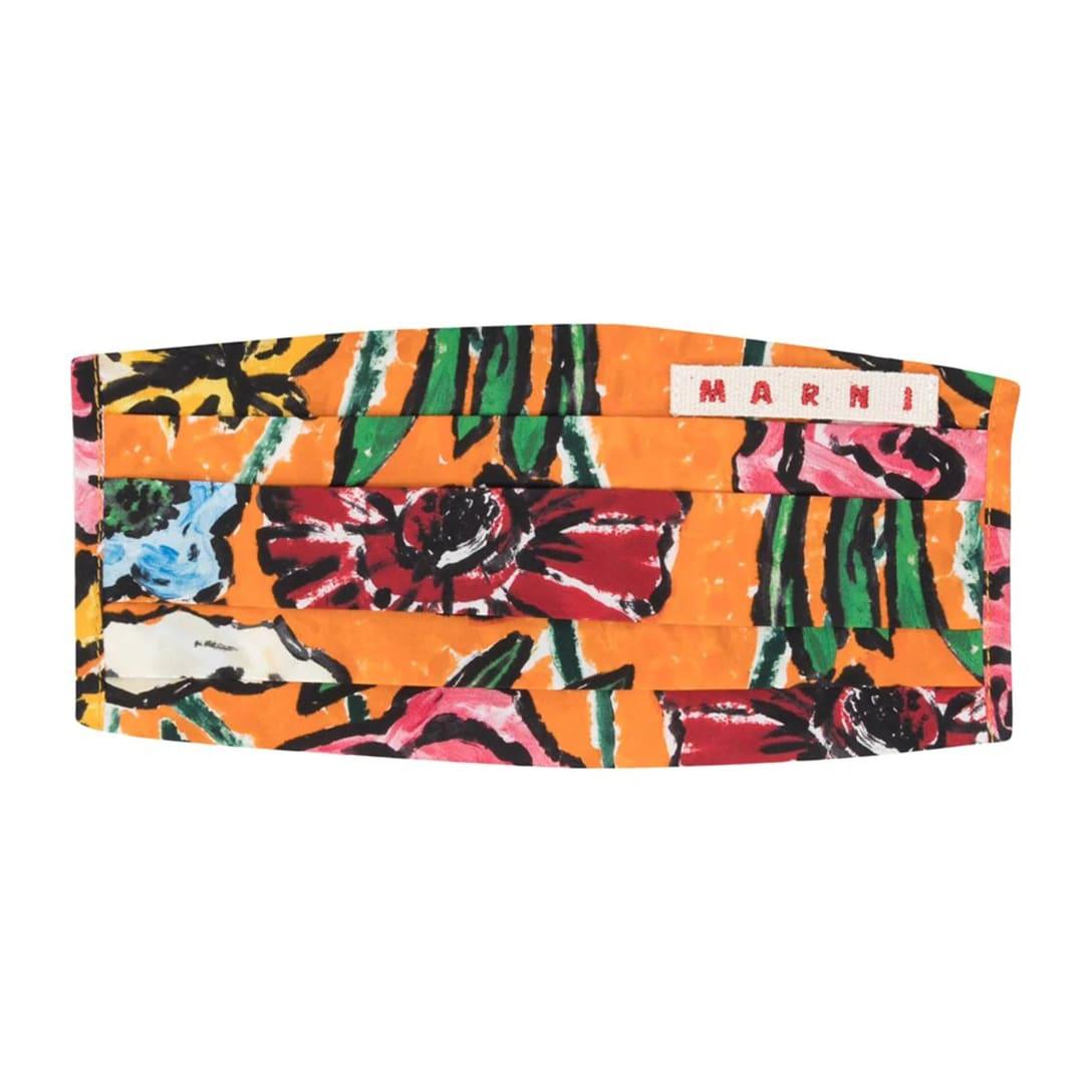 マルニ フローラル プリント マスク ¥10,400
