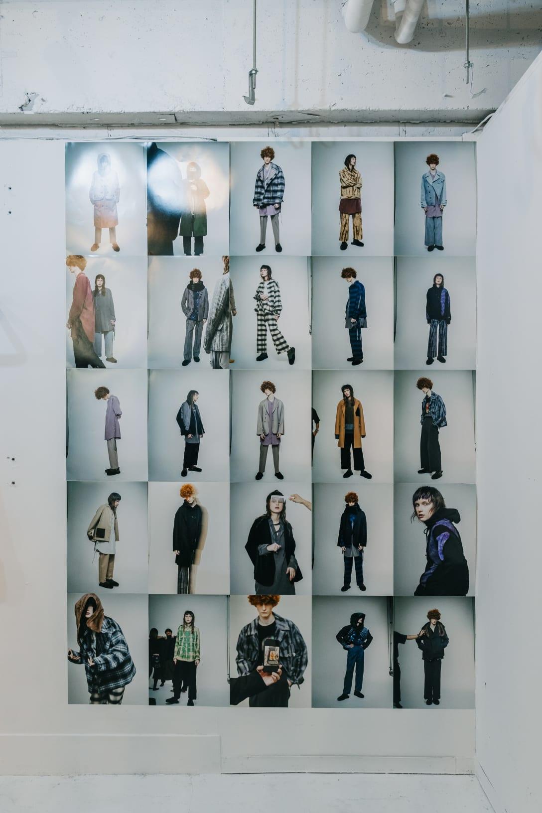 2021年秋冬コレクションのルックブック。東京ファッションウィークで配信した映像では、全く別の演出でコレクションを披露している