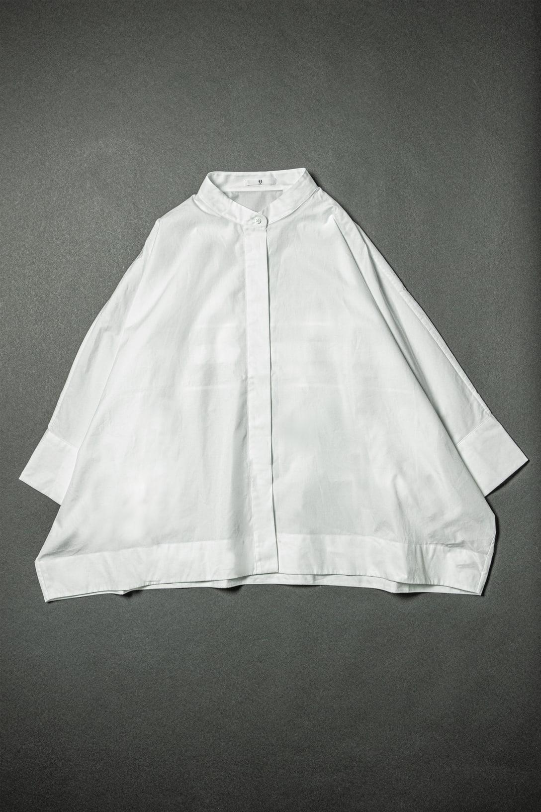 スーピマコットンドルマンスリーブシャツ 7分袖(3990円)