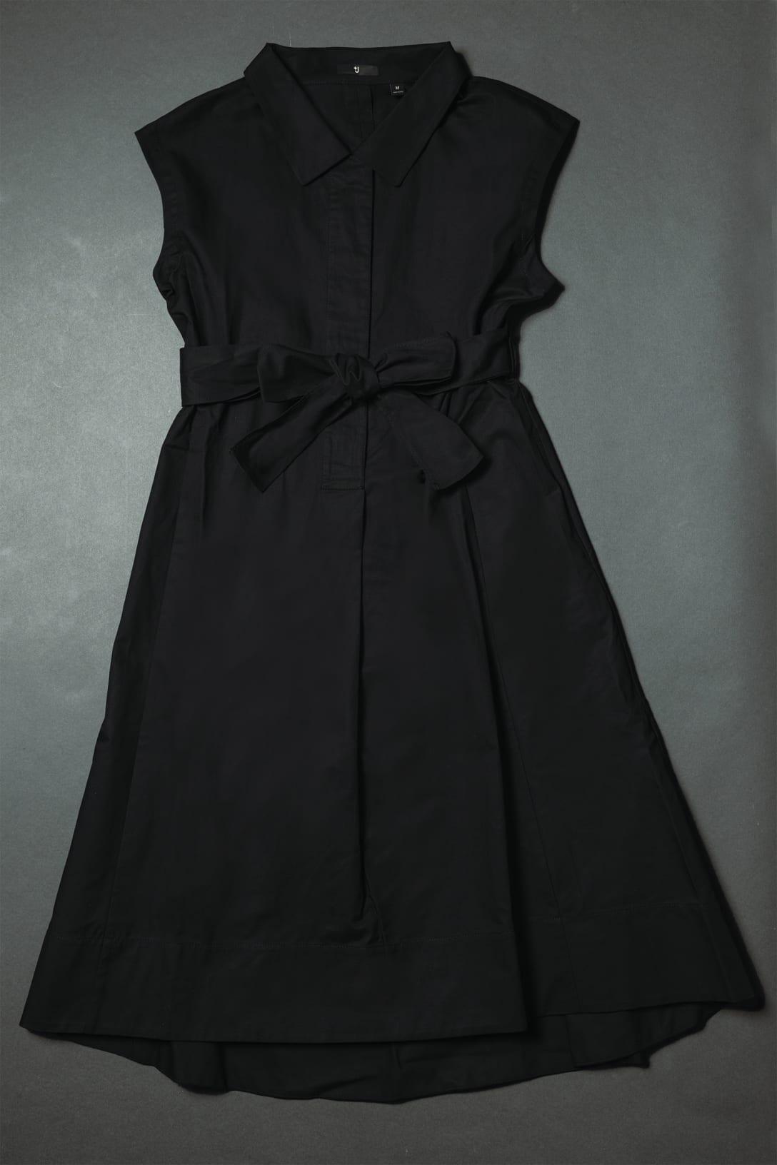 コットンリネンフレンチスリーブロングワンピース(半袖)(5990円)