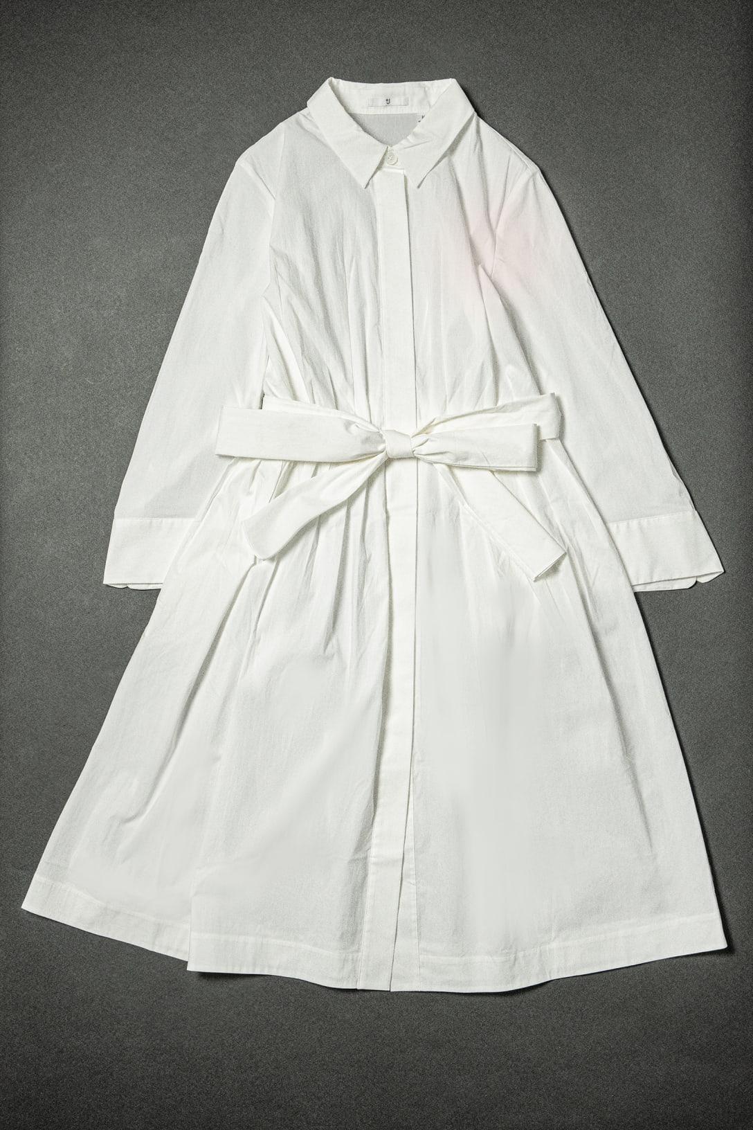 タックシャツワンピース(長袖)(7990円)