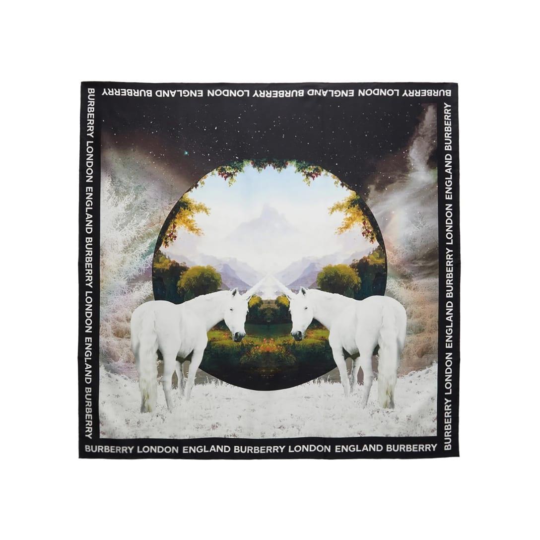 BURBERRY マルチカラー シルク Dreamscape Print スカーフ ¥51,000