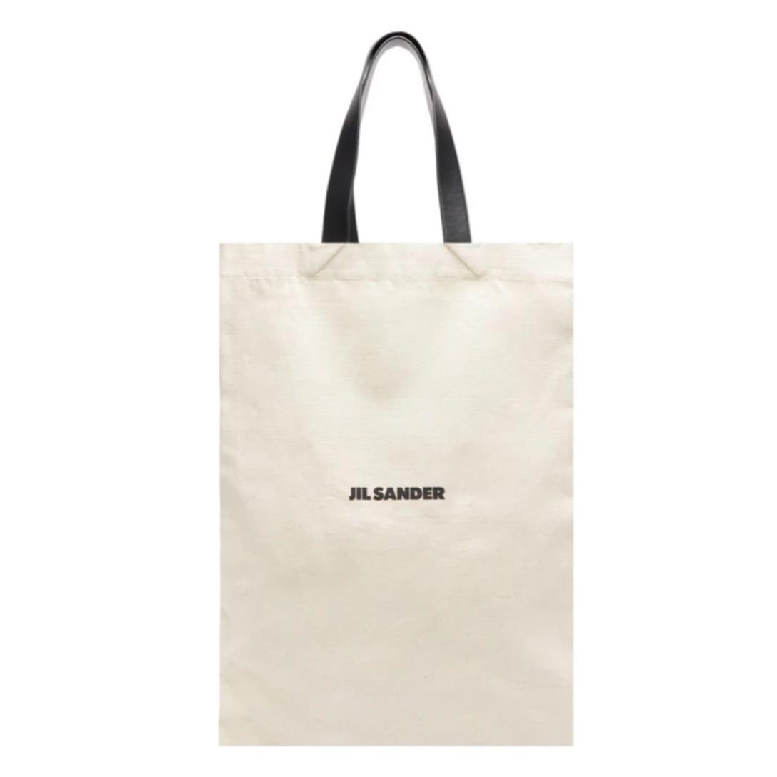 JIL SANDER フラット ショッパー ラージ キャンバスバッグ ¥73,305(関税・消費税込)