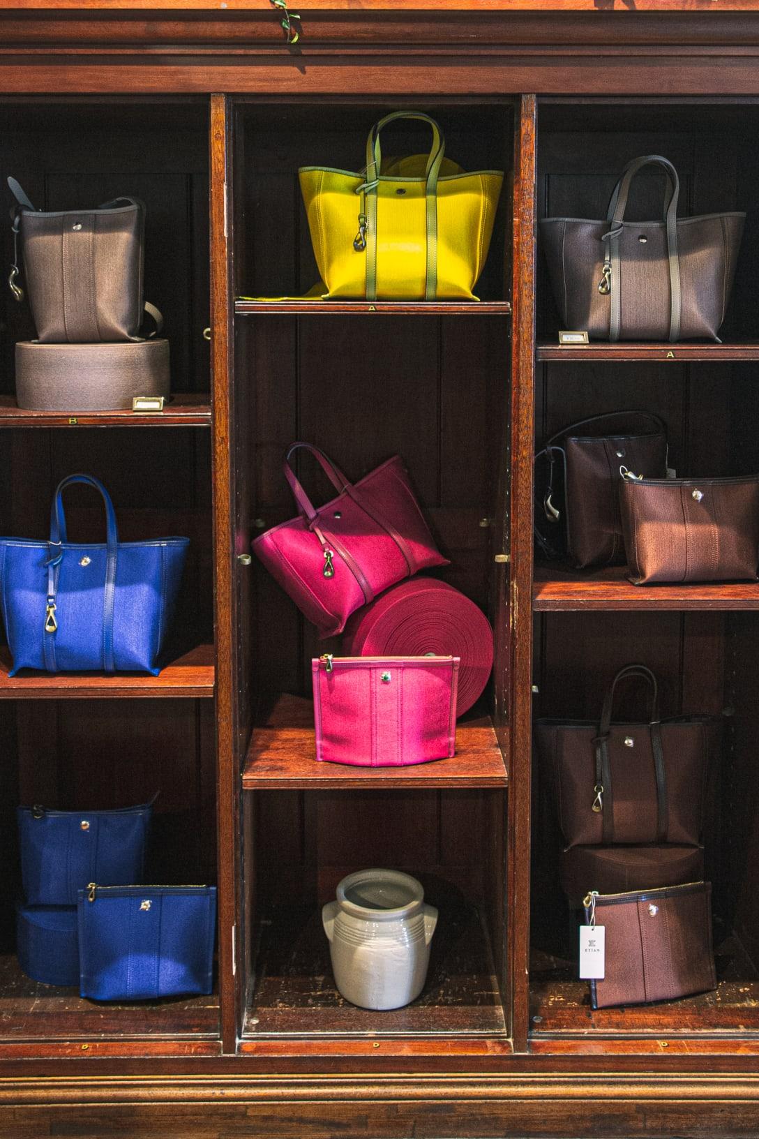 ゴム素材を使用した色鮮やかなバッグシリーズ「バウンシーシャイニー(bouncy shiny)」