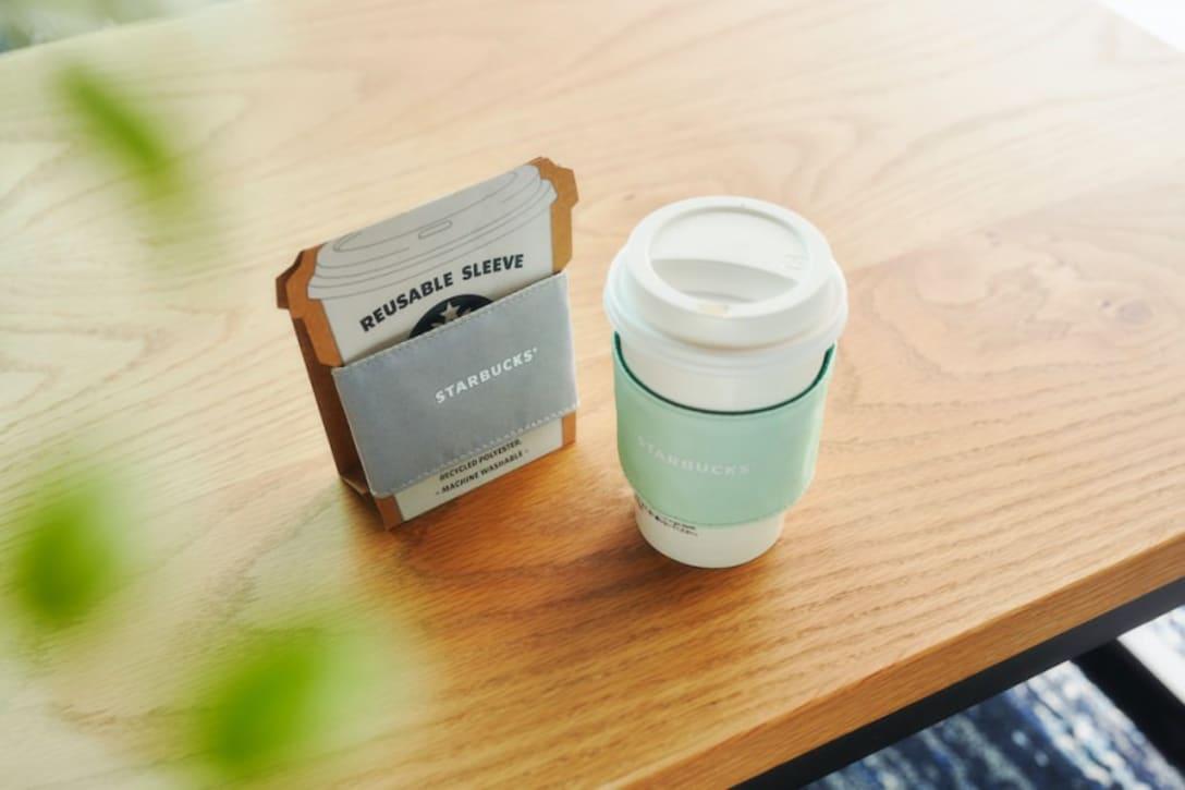 「リサイクルポリエステルスリーブ」カラー:ライトグレー、ライトグリーン(各 税込990円)