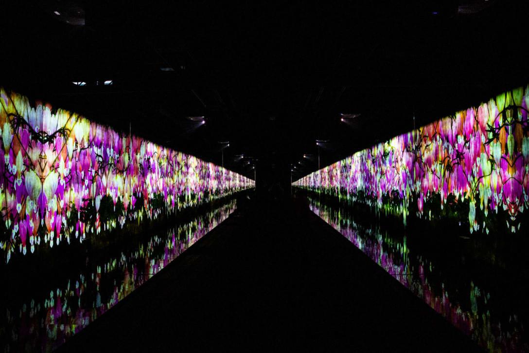 「チームラボリコネクト:アートとサウナ 六本木」の会場 Image by FASHIONSNAP.COM