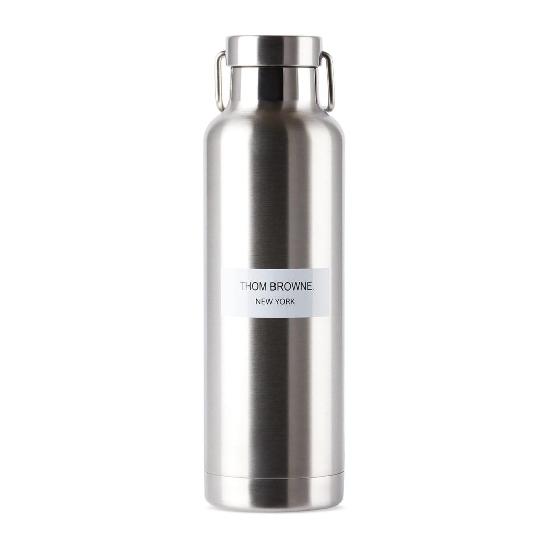 THOM BROWNE シルバー ステンレス スチール ロゴ ウォーター ボトル 710 ml ¥10500(関税・消費税込)