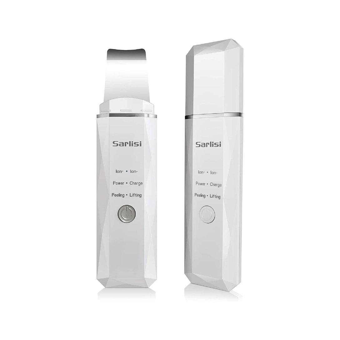 Sarlisi ウォーターピーリング 深層清潔 美顔器 超音波ピーリング イオン導入 導出 EMS微電流 USB充電式 角栓 角質 除去 保湿 2020新販売 日本語説明書付き (ホワイト)