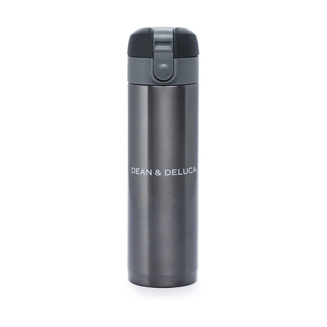 DEAN & DELUCA マグボトル300ml ガンメタル 水筒 マイボトル 魔法瓶 保温 保冷 ワンタッチオープン 直径 5.8cm 高さ 20cm(外箱:縦6.5cm×横6.5cm×高さ21.5cm)