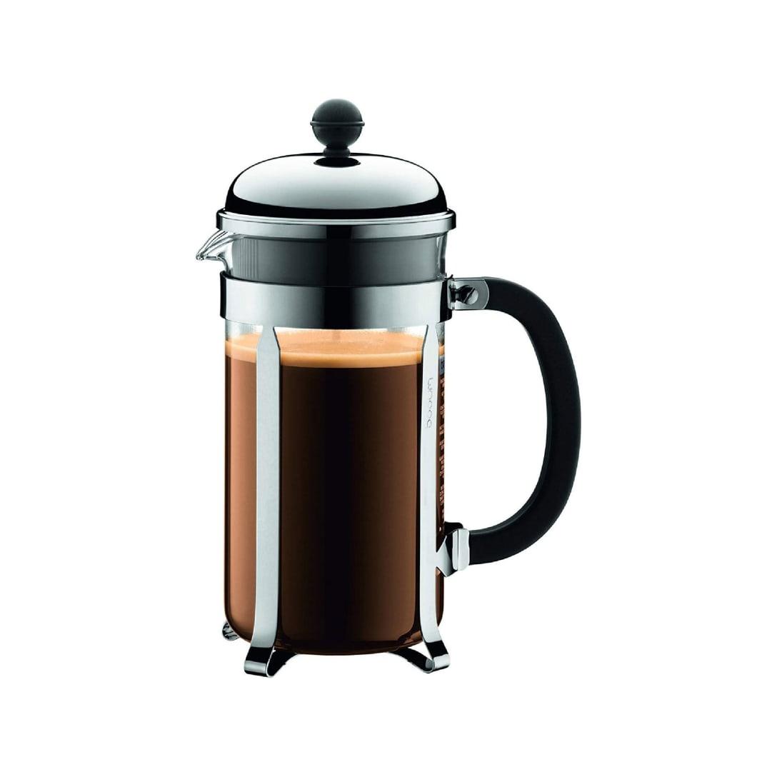 BODUM ボダム CHAMBORD シャンボール フレンチプレス コーヒーメーカー 1L シルバー 【正規品】 1928-16J