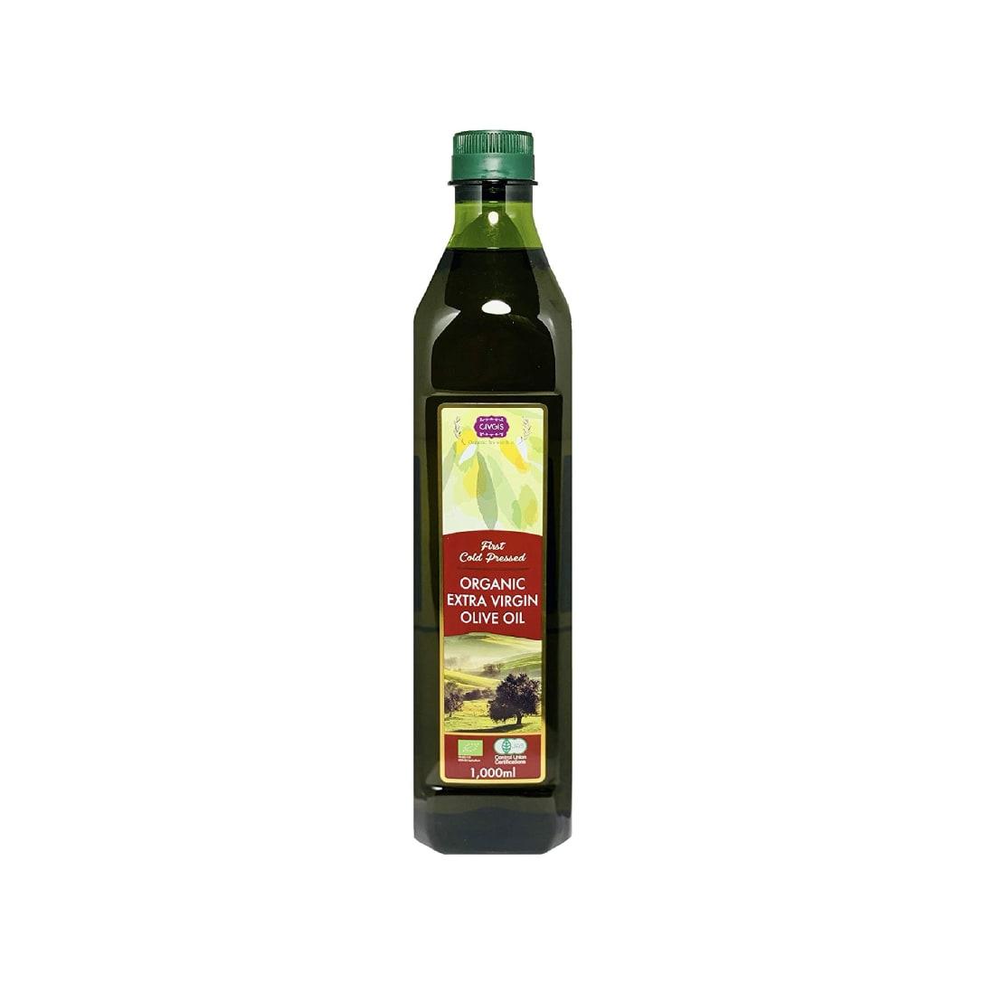 CIVGIS 有機JAS オーガニック エキストラバージン オリーブオイル【大容量1リットル】1,000ml ペットボトル【有機JAS・EUオーガニック】チブギス Organic Extra Virgin Olive Oil 1,000ml