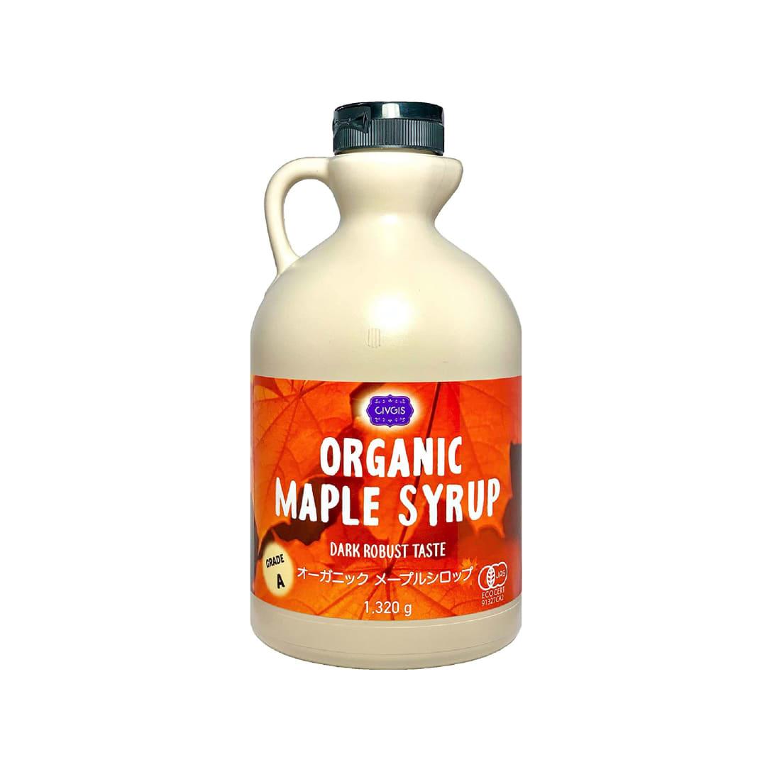 チブギス 有機JAS認定オーガニック メープルシロップ 1,320g グレードA(ダークロバストテイスト) CIVGIS Organic Maple Syrup 1,320g ( Dark Robust Taste ) Grade A