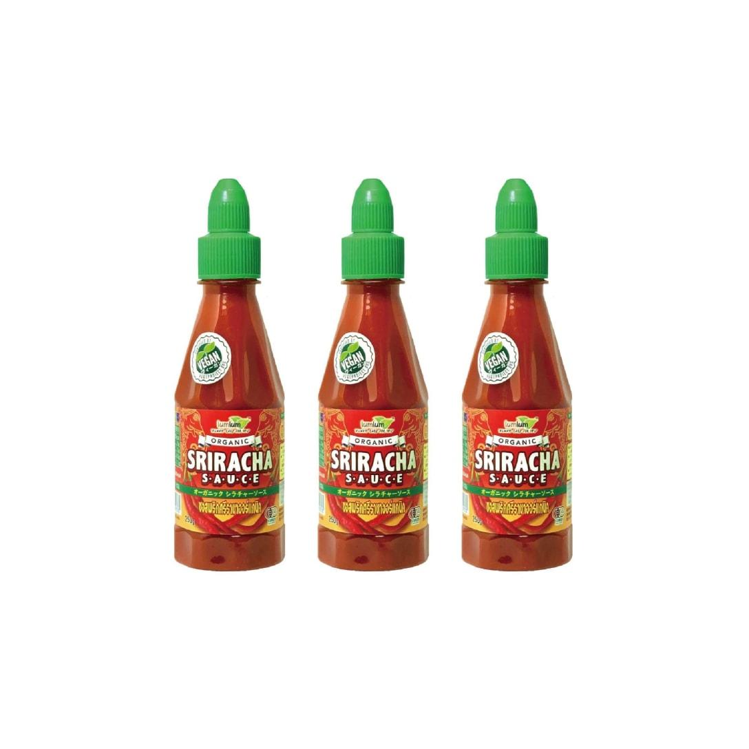 チブギス&ラムラム オーガニック シラチャーソース 250g x お得に3本セット(有機JAS認定・グルテンフリー・ヴィーガン)CIVGIS & lumlum Organic Sriracha Sauce 250g x 3 pcs