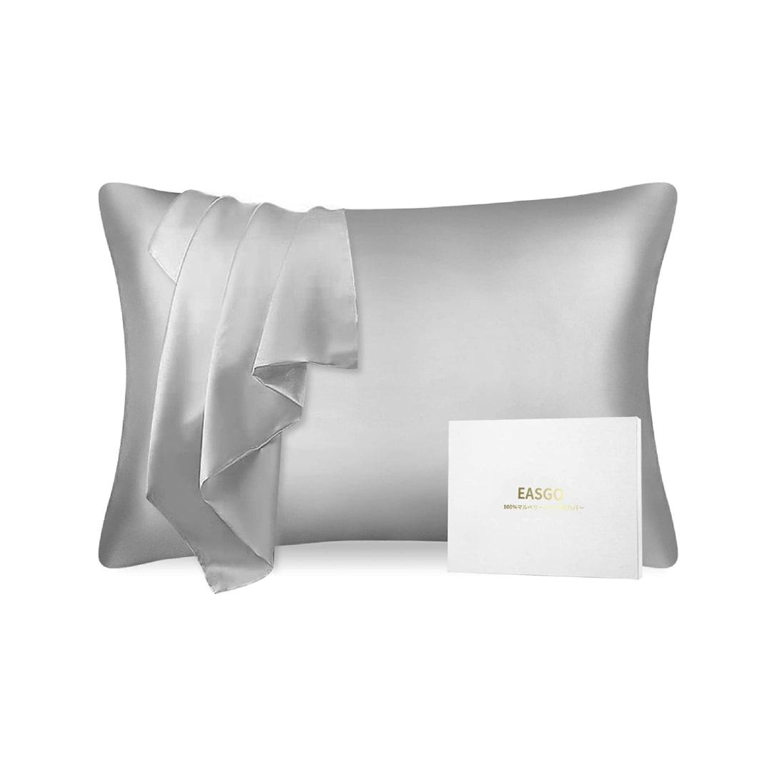 EASGO シルク枕カバー (シルバー, 43x63cm) ¥2,380(消費税込)