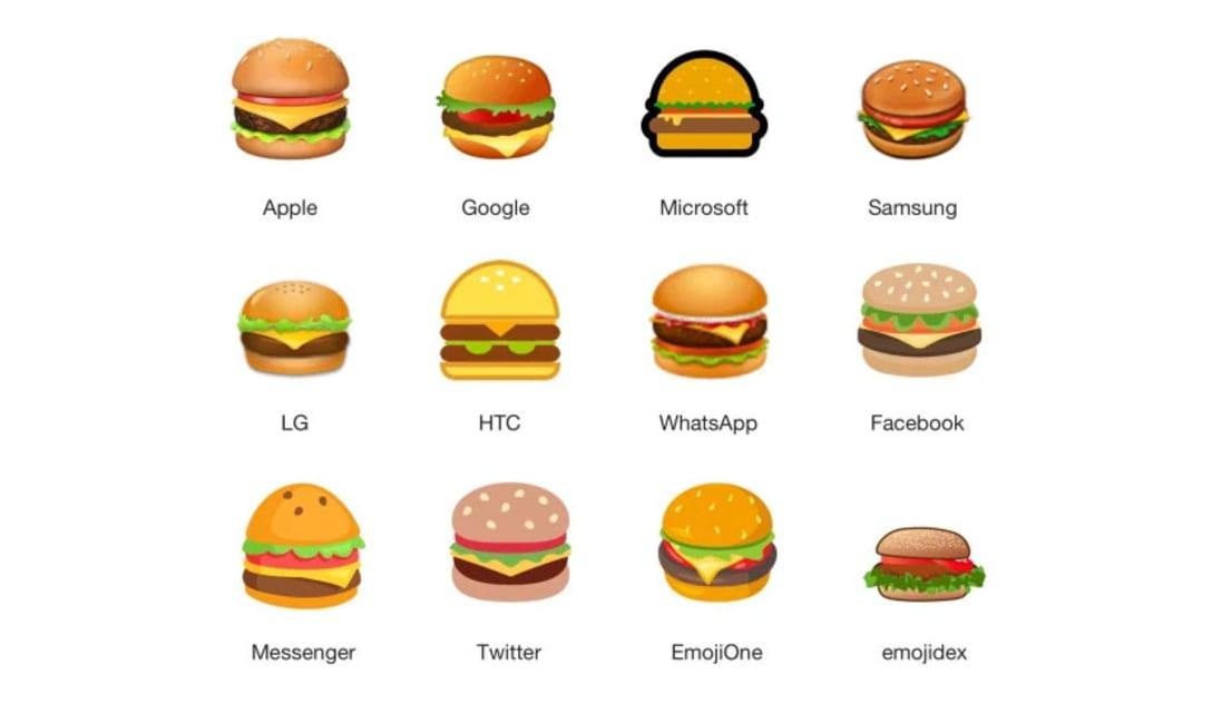 物議を醸したハンバーガーの絵文字