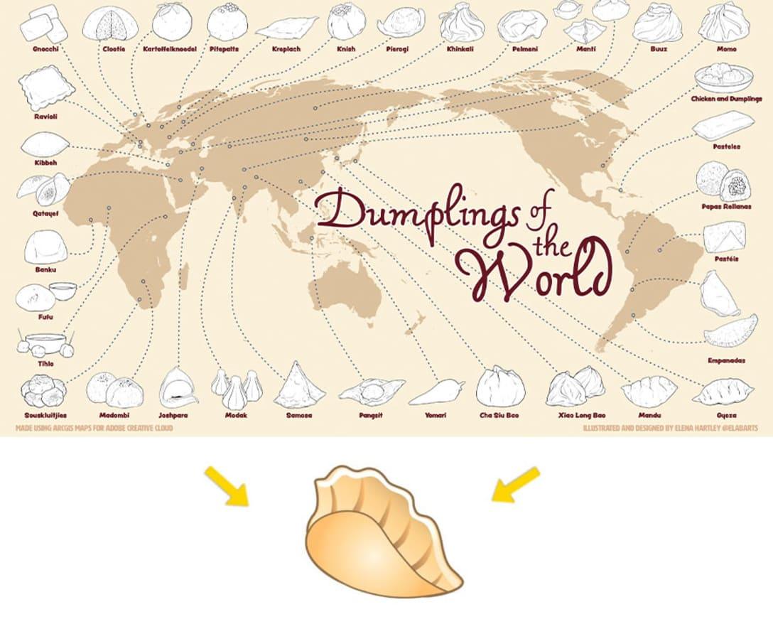 世界の餃子を考慮してデザインされた絵文字