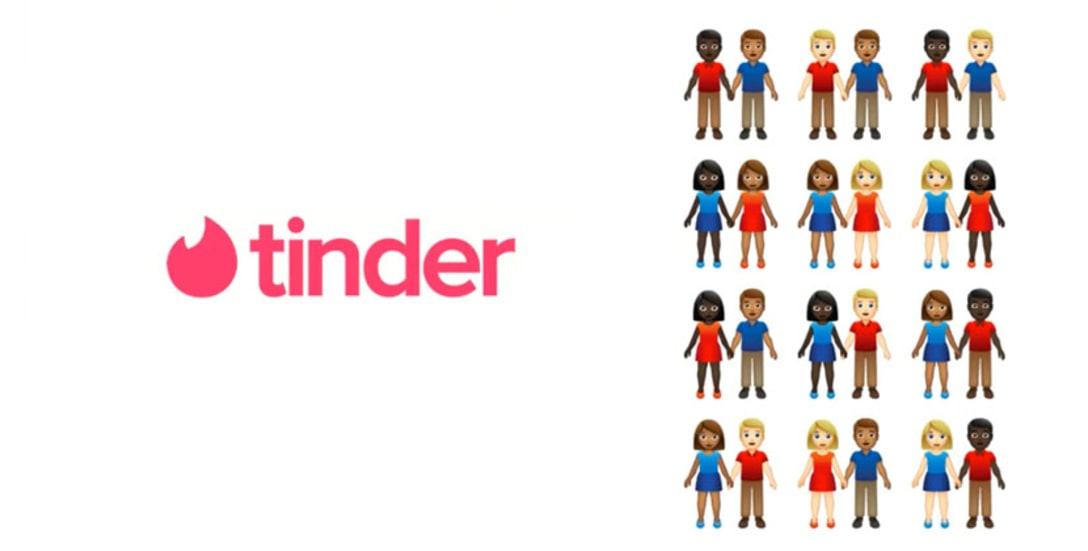 Tinderにおけるカップル絵文字のバリエーション