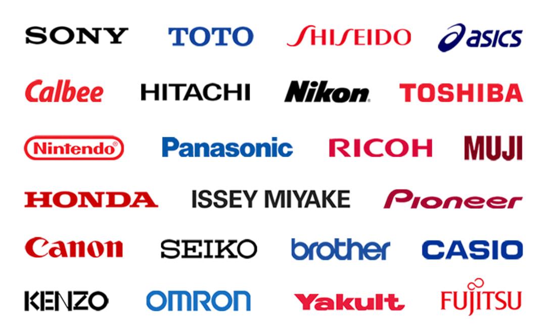 日本企業のブランドロゴ