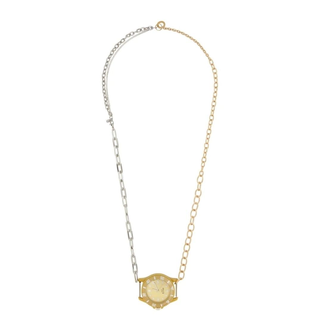 BLESSシルバー & ゴールド ネックレス ¥18,500(関税・消費税込)
