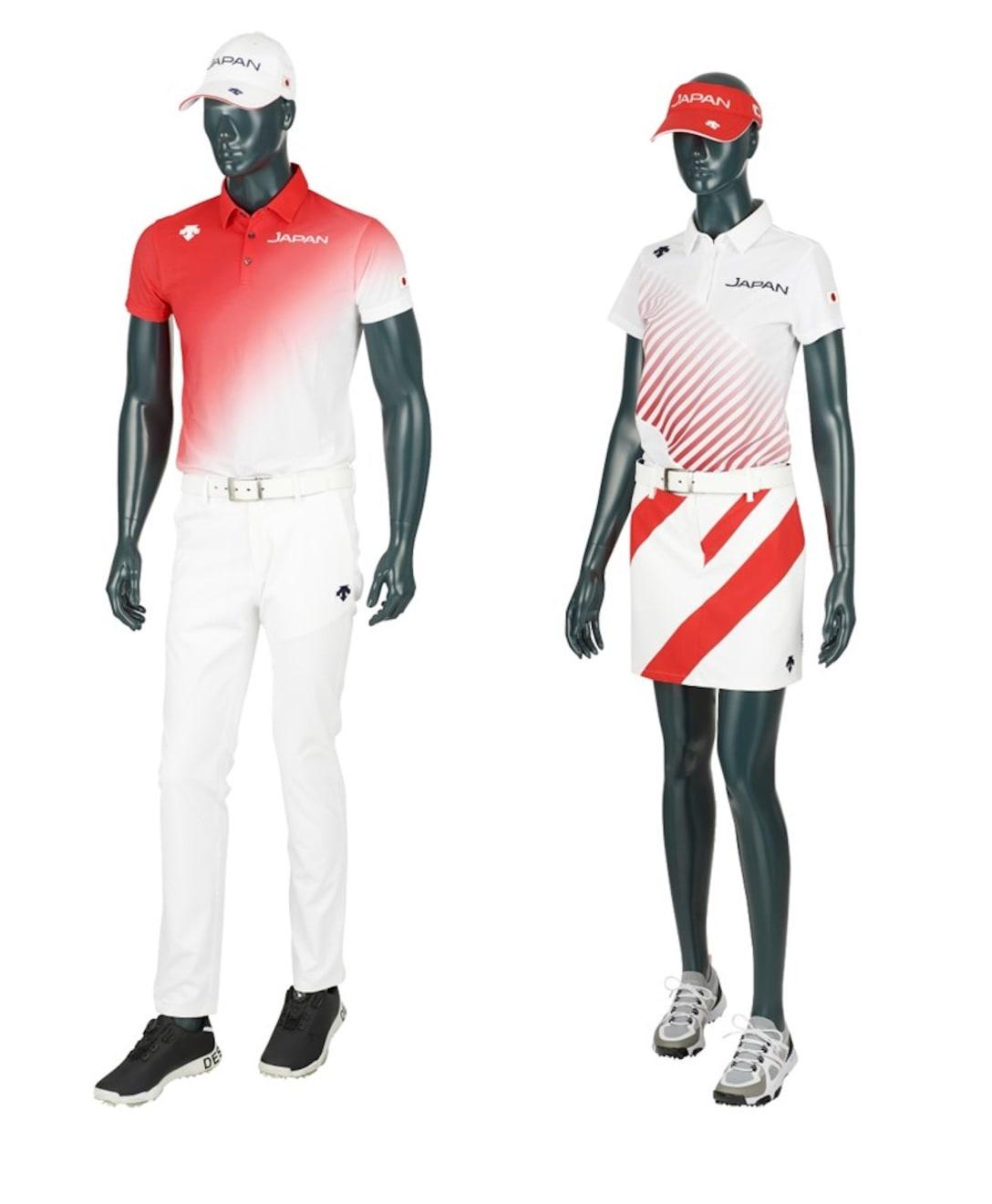 ゴルフ代表ユニフォームのレプリカ Image by デサント