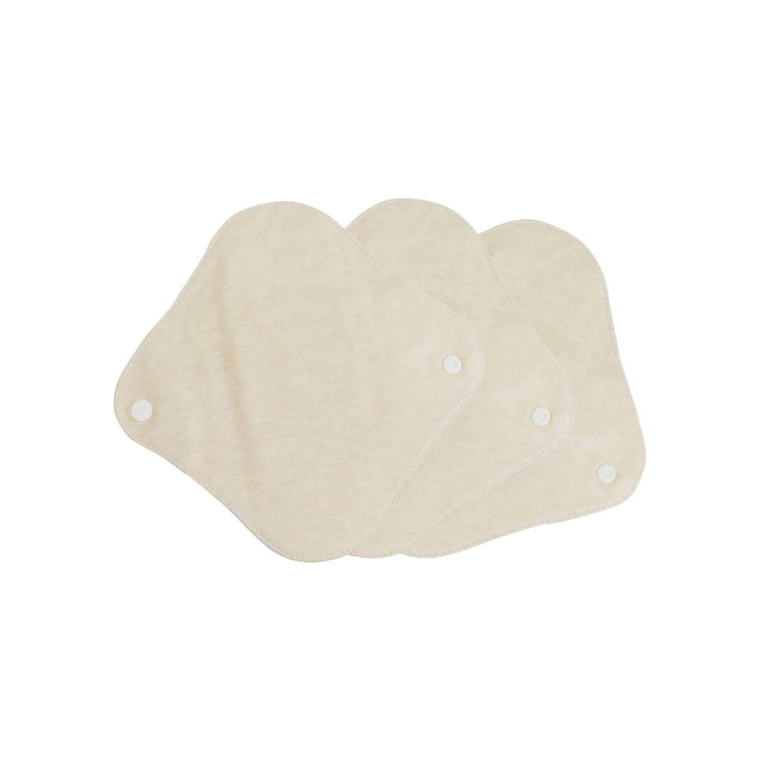 布ナプキン オーガニックコットン 両面使用 おりものシート 18cm 防水布 吸収帯入り 3枚 ¥2,280(消費税込)