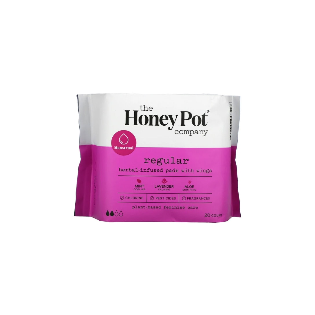The Honey Pot Company, Herbal-Infused Pads with Wings, Regular, 20 Count ¥927(関税・消費税込)