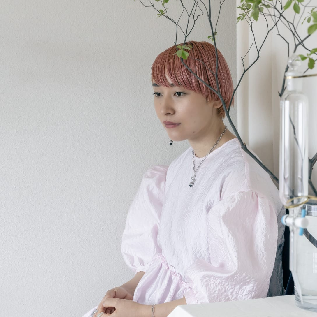 moilデザイナー 石上理彩子さん Image by FASHIONSNAP