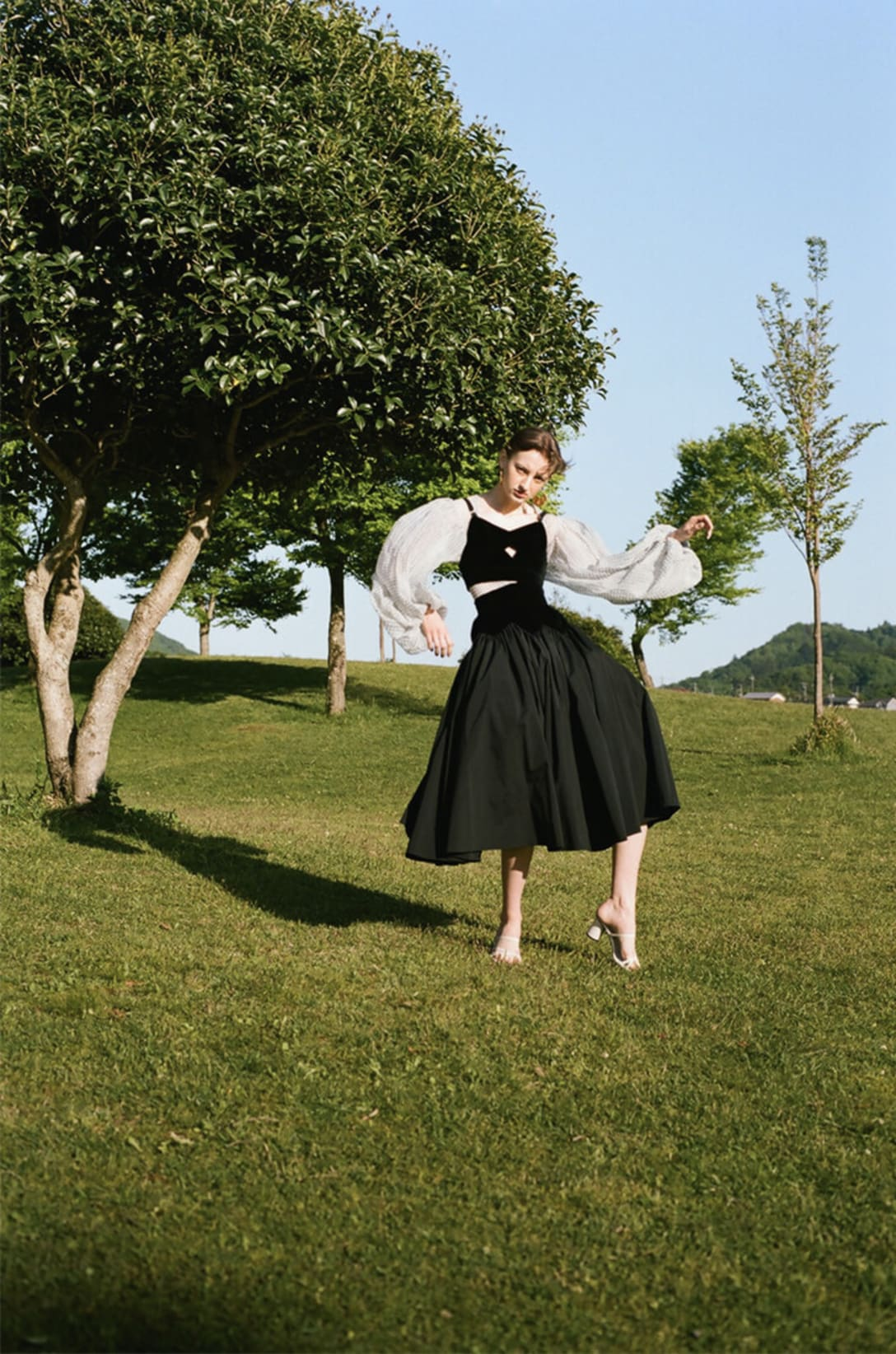 top and skirt by FETICO, dress by HIKARI MORIGAMI, shoes and earrings stylist's own