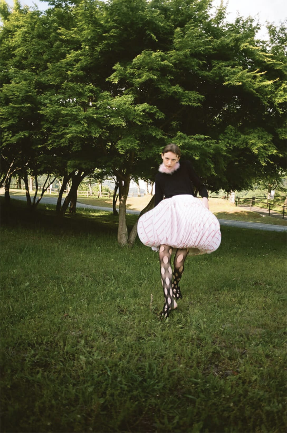 skirt by MAO ICHIKAWA, top, collar, tights and shoes stylist's own