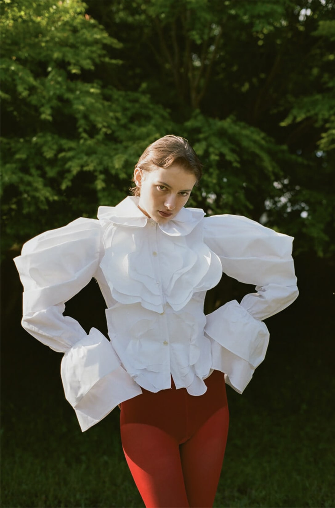 blouse by KOHARU HAGIWARA, shorts and tights stylist's own