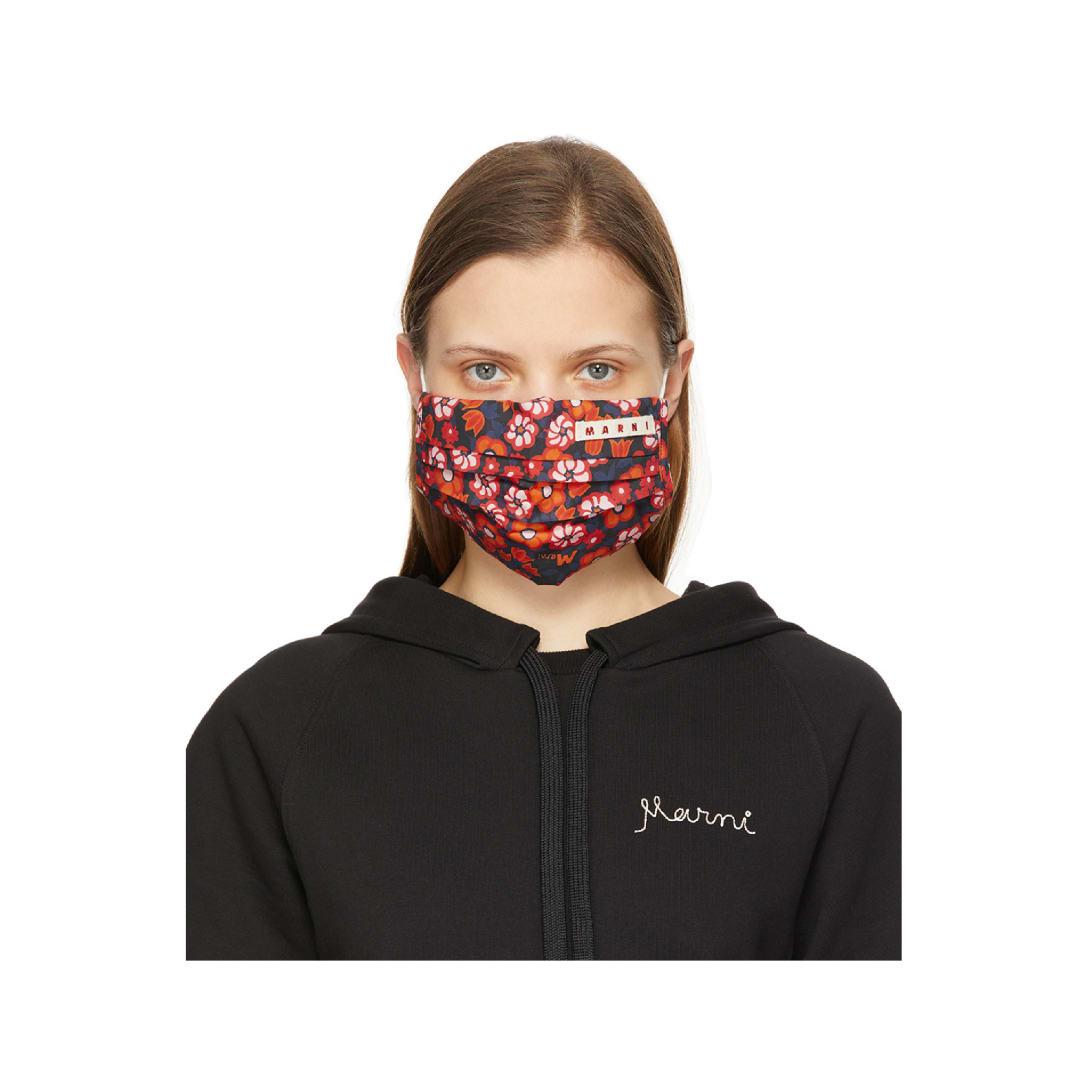 MARNI マルチカラー フローラル マスク カバー $27 USD 70% OFF(関税・消費税込)