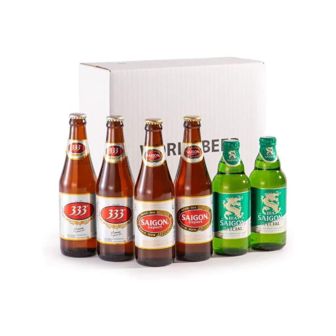 ベトナムビール 飲み比べギフトBOX6本入り ¥3,289(消費税込)