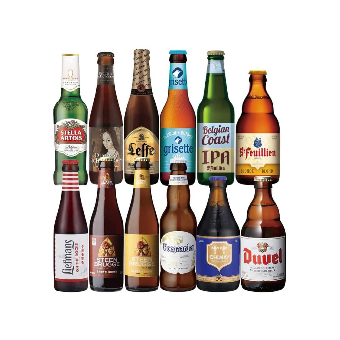 世界のビールセット ベルギービール 12種 ¥5,500(消費税込)