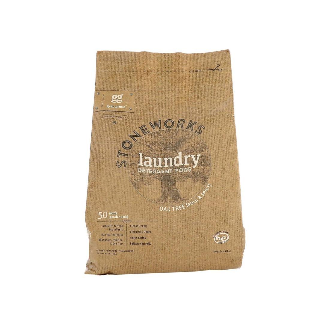 Grab Green, Stoneworks、ランドリーディタージェントポッド(洗濯洗剤)、オーク、50回量、1.65 lbs (750 g)¥1,484(消費税込)