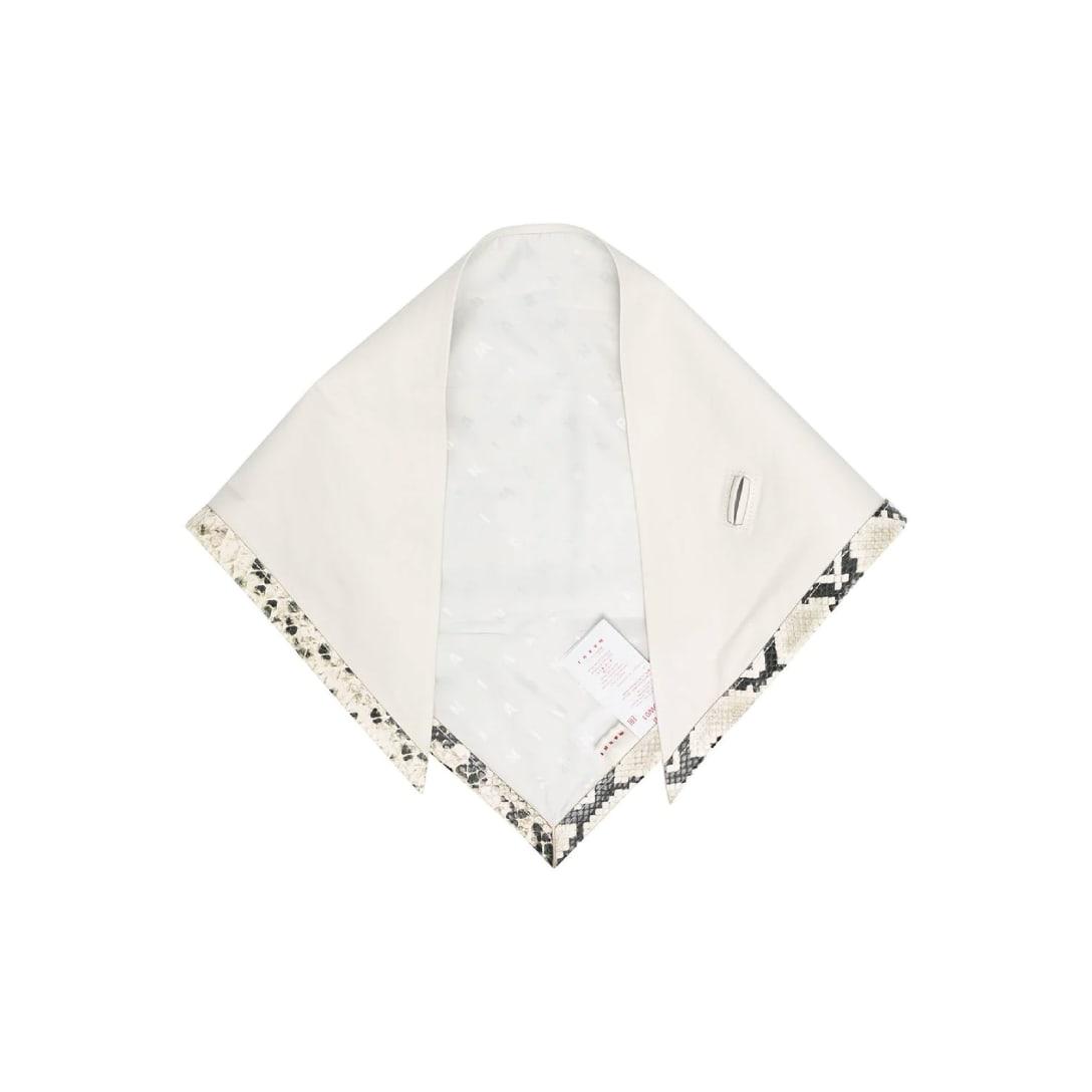 Marni スネークスキンパターントリム スカーフ ¥84,700(輸入関税込み)