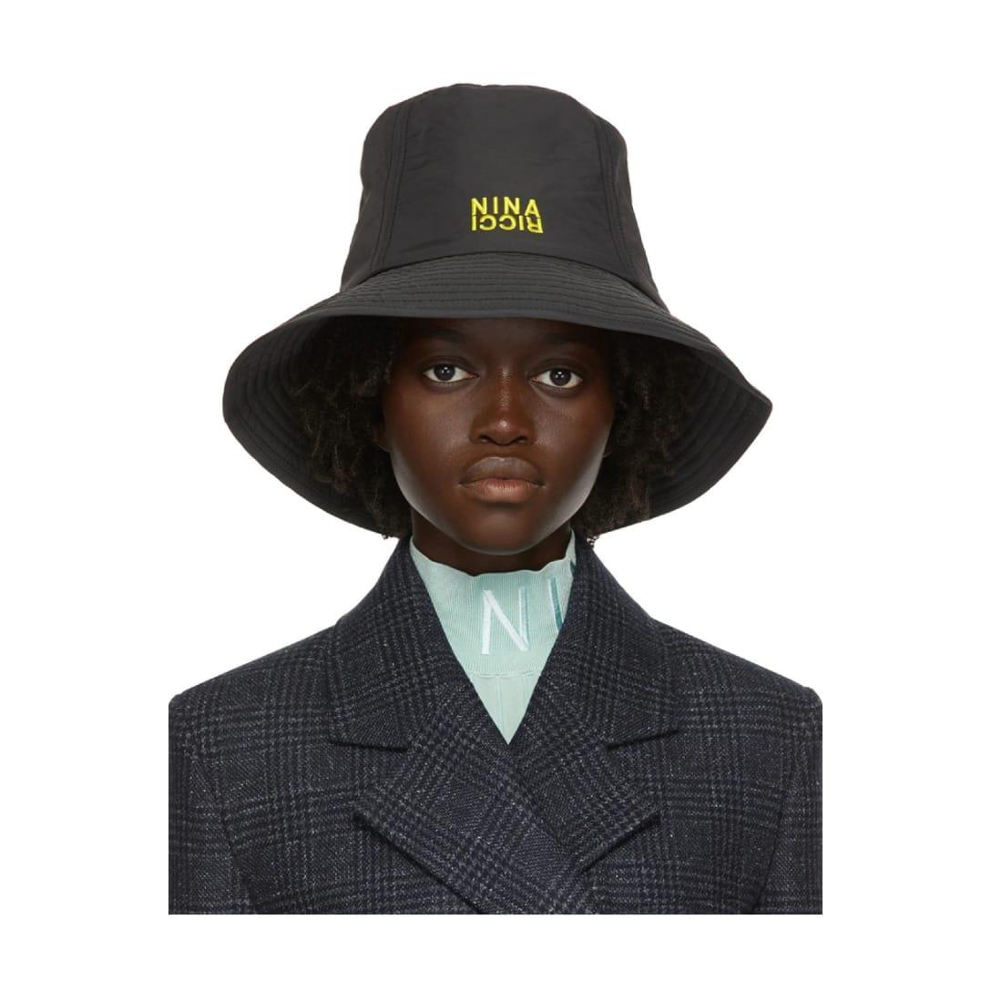 NINA RICCI ブラック ロゴ バケット ハット ¥17,000(関税・消費税込)