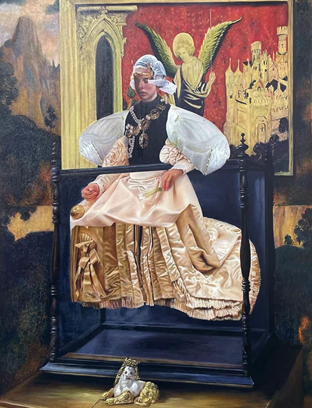 Inside is Light, 2021, Oil on canvas, 148 x 112 cm ©Teodora Axente